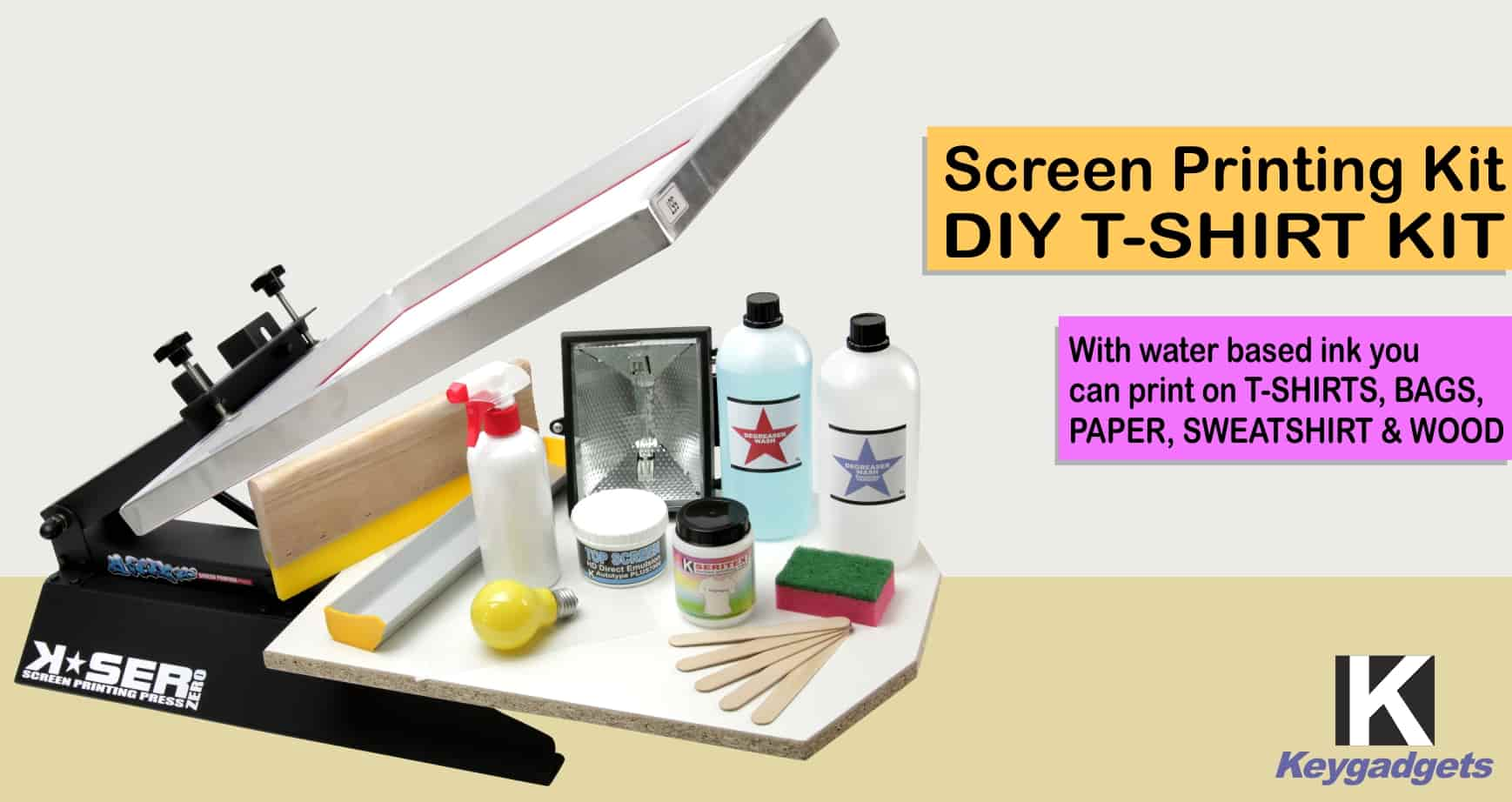 DIY PRINT SHOP T-Shirt Screen Printing Kit